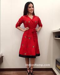 Bollywood Baby Doll Sunny Leone in Rinku Sobti red Robe Skirt (shaf_prince) Tags: india fashion actress bollywood longskirt 2016 sunnyleone designerwear bollywoodbabydoll rinkusobti