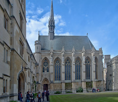 Exeter College, Oxford (John D McDonald) Tags: building architecture geotagged gothic victorian oxford oxfordshire hdr highdynamicrange gilbertscott georgegilbertscott frenchgothic gothicrevival autobracket exetercollege fleche victoriangothic bracketed autobracketing sirgeorgegilbertscott autobracketed exetercollegeoxford