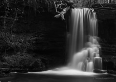 Pwll-Y-Wrath waterfalls (TheAstroRV) Tags: light vacation white lake black nature water wales forest canon woodland walking landscape waterfall woods rocks hiking foliage trail blackandwhte rockpool bigstopper