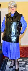 Ingrid022006 (ibach411) Tags: leather dress skirt mature faux waistcoat pleated kleid weste kunstleder faltenrock