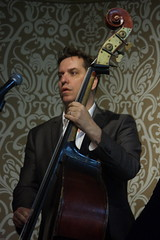 Martyn Brothers Band (2016) 04 - Ben Martyn (KM's Live Music shots) Tags: greatbritain jazz doublebass thursdaylunchtimecharityjazz benmartyn martynbrothersband winningposttwickenham