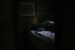 IMG_5242 (difficult listening) Tags: seattle light mountains window night rural forest washington bed cabin sleep hills