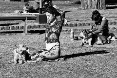 Dogs company (Wal CanonEOS) Tags: park street parque girls portrait blackandwhite bw woman dog streets byn blancoynegro blanco dogs argentina girl lady portraits canon eos monocromo calle mujer buenosaires day y retrato candid femme negro sombra dia perro retratos monocromatic perros callejeando beautifulgirl bsas womans joya femenina caba monocromatico capitalfederal ciudaddebuenosaires portraitbw parquecentenario candidstreet womanbw argentinabsas retratobyn retratofemenino ciudadautonoma streetsbw perrosdecompaia rebelt3 canoneosrebelt3 dogscompany acompaadadeperros encompaiadeperros