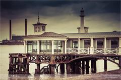 Gillingham Pier in Kent III (go18lf2004) Tags: lighthouse weather clouds pier kent energy clocktower historical powerstation gillingham rivermedway