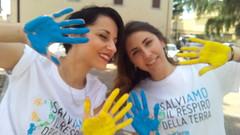 Delegati dopo gioco con bambini Piazza Roma Comune di Aprilia 26-05
