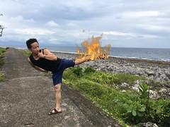 It's on fire (taker-hey) Tags: ocean sidekick island fire fight team martialart kick lol ps kungfu fx combat onfire hsiaoliouciouisland