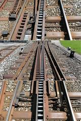 railroad geotagged schweiz switzerland europe track suisse ar swiss kecko ostschweiz eisenbahn rail railway ab svizzera bahn gleis schienen 2016 heiden appenzellerland weiche appenzellerbahn swissphoto zahnstangenweiche geo:lon=9536140 geo:lat=47446710