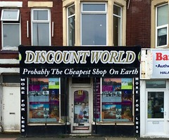 Probably the cheapest shop on earth (Rhisiart Hincks) Tags: siop denda stal bth shop blackpool sirgaerhirfryn fyldecoast lancashire lloegr powsows england sasana brosaoz ingalaterra angleterre inghilterra anglaterra  angletrra sasainn  anglie ngilandi fylde holidayresort cyrchfangwyliau