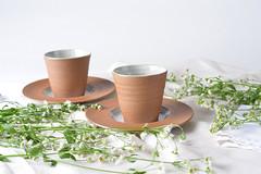 Tea-Bowl-white-brown-01 (cdkceramic) Tags: brown white ceramic teabowl   cdkceramic