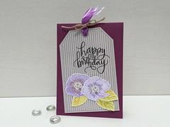 Happy birthday (leni4jjc) Tags: ribbon heroarts sss twine watercolorpaper distressinks impressionobsession cl494 ac024 sss101527 c13206orientalpoppysmall