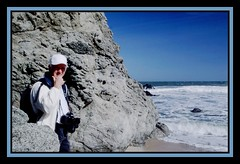Bill Along the Pacific Coast (Mrs. Terry) Tags: copyrightbyteresamforrest pacific coast photographerfriend photosbyterry pigeonpoint billtaylor 20022004 191060802billalongthepacificcoastwframe