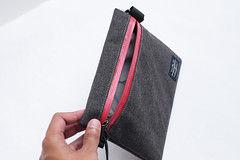 Flat Pouch Ash Red 07 (Imagery Bags) Tags: zipper ykk waterresistant flatpouch drypouch