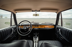 BMW 2000 (interior) (Andrey Baydak) Tags: wood classic leather 2000 interior wideangle automotive symmetry retro chrome german seats bmw oldtimer 1960s 1968 дерево neueklasse кожа салон хром tokina1116 tilux сиденья