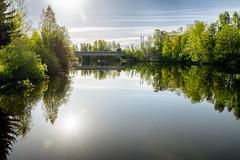 Iisalmi (Tuomo Lindfors) Tags: sun reflection water suomi finland stream vesi aurinko heijastus iisalmi virta colorefexpro niksoftware viveza theacademytreealley paloisvirta