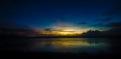 Waiting for the Sun to go down (Trigger1980) Tags: ocean blue sunset sea sky bali cloud beach water night sunrise dark sand ngc hdr kuta d7000 nikond7000