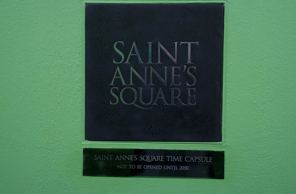 ST. ANNE'S SQUARE TIME CAPSULE [NOT TO BE OPENED UNTIL 2050]-104922