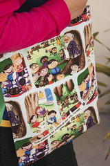 """Saco Selvage """"Os Gnomos"""" (owl_mania) Tags: original portugal bag sewing porto owl saco costura 2015 mocho galões mochos projectbag selvages owlmania sacoselvage sacoempatchwork"""