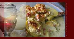 Kartoffel-Selleriegratin ( doro 51 ) Tags: food reflection glass essen foto wine challenge glas 52 wein reflektion wochen gaumenfreuden