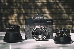 Rolleiflex SL26 (Arne Kuilman) Tags: slr classic rollei lens analogue 40mm f8 126 esoteric lenses 126film sonnar carlzeiss madeingermany protessar 80mmf4 sl26 rolleiflexsl26 supertakumar35mm 19681973 28mmf32 heinzwaaske