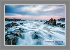 Woolacombe (stagenutuk) Tags: sunset sea beach clouds coast rocks devon slowshutter woolacombe slowshutterspeed nikon1024mmlens nikond7200
