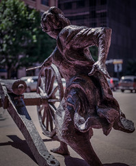 Angelina Eberly Sculpture, Austin, Texas (nsandin88) Tags: sculpture 120 mamiya film austin mediumformat downtown texas kodak cannon epson manualfocus rz67 ektar mamiyarz67 developedathome kodakektar v850 ektar100