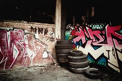 Entrance (tylersullivan618) Tags: city urban chicago art abandoned beautiful beauty graffiti lomo lomography woodpecker ruins paint experimental factory pentax decay vibrant urbandecay steps lofi ruin woody tires explore urbanexploration southside grime exploration fenced decaying factories abandonedbuilding beautifuldecay woodythewoodpecker southsidechicago elomography chicagophotographers tylersullivan woodennickels grimelord abandonedillinois abandonedporn grimelords tylersullivanphotography