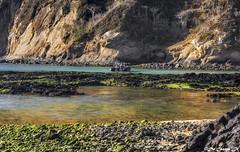 Bachas Beach (AlaskaGM) Tags: travel cruise blue sea sky cloud tourism beach southamerica water rock landscape island volcano bay ecuador wildlife reserve evolution galapagos charlesdarwin pacificocean coastline geology volcanic eco idyllic vacations tranquil puertoegas alaskagm