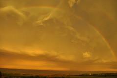 Rainbow (lisa marie donahoo) Tags: county morning sky storm marie clouds rainbow nikon lisa andrew missouri lightning thunder donahoo d5000