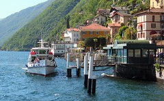 Lake Como Ferry Landing - Argegno - Lombardy Italy (Gilli8888) Tags: windows italy mountains alps ferry architecture buildings boat village lakes vessel lakecomo lombardi ferrylanding argegno
