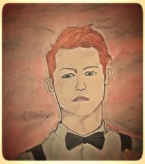 That man <3 (jjoneshawkins) Tags: man color art ginger sketch mood sad serious drawing sketching sketchbook dessin redhead artsy draw mad manportrait