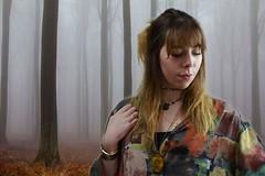 Morning Mist (hannahjenkins1812) Tags: trees portrait mist selfportrait home girl misty shirt female contrast forest photoshop self canon studio exposure earth background hippie tones eos500d