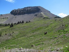 Heading for the Pass above Upper Darby Canyon (Trail Route) (Anne's Travels 4) Tags: wyoming tetons grandtetonnationalpark fossilmountain jedediahsmithwilderness darbycanyon upperdarbycanyon