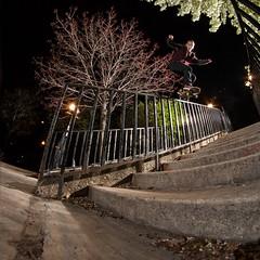 Woody Woelfel - Kickflip BS Lipslide (Jesus Arellanes) Tags: chicago canon skateboarding character bees alien skateboards sunpak alienbees 430ex pocketwizard 120j strobist nostrobistinfo removedfromstrobistpool seerule2