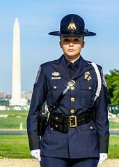 Honor Guard Officer (Bill Adams) Tags: dc washington districtofcolumbia police washingtonmonument capitolhill sarmiento nationalpoliceweek cbp uscustomsandborderprotection monumentalcore honoringfallenofficers a7rii a7r2 nationalpoliceweek2016 npw2016
