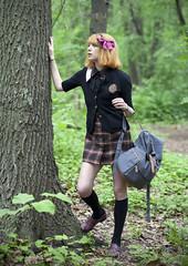 (sarajdsign) Tags: park nyc school ny girl found lost model adventure explore harajuku schoolgirl