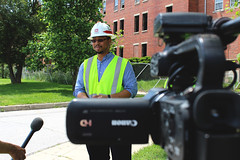 Corps engineers interviewed for Meade TV feature (USACE HQ) Tags: engineer usarmy usace fortmeade usarmycorpsofengineers militaryconstruction milcon baltimoredistrict