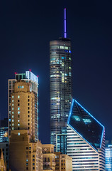 Go Cubs (Zouhair Lhaloui) Tags: nightphotography urban usa chicago skyline architecture nikon cityscape skyscrapers nightlight trumptower trump chicagoskyline 2015 americancity d810 chicagocityscape zlphotography zouhairlhaloui villeamericaine