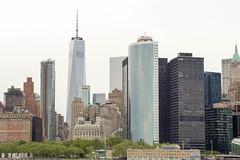 Staten Island Ferry (GPhace) Tags: nyc newyorkcity skyline skyscraper canon spring cityscape cloudy wtc 70300mm statenislandferry newyorkharbor freedomtower portofnewyorknewjersey 5dmiii