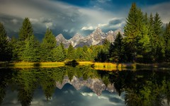 Schwabacher's Landing, Part II (PrevailingConditions) Tags: trees mountains reflection water nps grandteton schwabachers