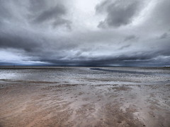 Where sea and sky meet (tobymeg) Tags: sea sky cloud beach bay scotland sand place meeting sandyhills