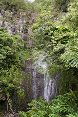 Waterfall On The Road to Hana (rschnaible) Tags: road usa water forest landscape hawaii us waterfall tour pacific outdoor hiking sightseeing maui hike falls hana jungle tropical tropics