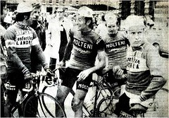1975 TDF Before the Start (Sallanches 1964) Tags: 1975 tourdefrance flandria belgiancyclists molteniteam