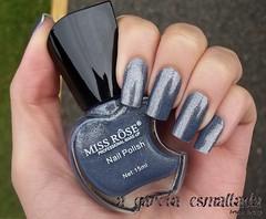 Esmalte Perolado 40, da Miss Rôse. (A Garota Esmaltada) Tags: blue azul nails 40 nailpolish unhas esmaltes perolado agarotaesmaltada missrôse missrôseprofessionalmakeup perolado40