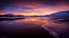 Tulla Fire (David Hannah) Tags: winter sunset snow mountains ice water evening scotland frozen argyll loch tulla