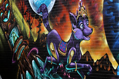 First Coat (Alan McIntosh Photography) Tags: colour art mural paint coat first graffitti toowoomba