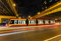 TTC 4415 (Nicoli OZ Mathews) Tags: ttc streetcar blogto toronto street red night spadina train bombardier lightstreak
