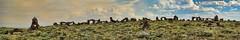 Utah's Stonehenge, bookmarked (rovingmagpie) Tags: utah fishlake rocksculpture smoke stonehenge lorenzolarsen shepherd bookmark rock ctg2016 summer2016 panorama pano