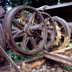 Old Train (Edward Ley Ortiz) Tags: train panama canal panamacanal old tre wheels yashicamat124g yashica 120mm 6x6 film analog