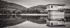 Calm waters (Martin Snicer Photography) Tags: bw blackandwhite landscape lake calm serene 6d longexposure ndfilter 50mm canon moravia czechrepublic water reflection composition travel