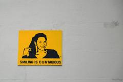 Smiling is contagious (_MissMoneyPenny_) Tags: sign belgium cartello ghent gent gand belgio